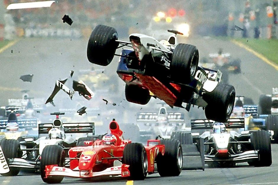 racing accident in the 90s